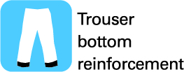 Trouser bottom reinforcement
